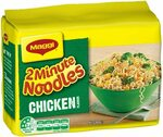 MAGGI 2 Minute Noodles, 5 Pack Chicken/Beef/Mi Goreng $1.97 ($1.77 S&S) + Delivery ($0 with Prime/ $39 Spend) @ Amazon AU