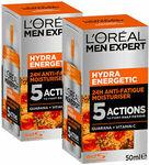 L'Oréal Paris Men Expert Hydra Energetic Moisturiser Anti-Fatigue 50ml X 2 $19.14 + Free Shipping @ L'Oréal Australia eBay
