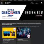 [NSW] Redeem 2 Movie Tickets with 1 Discover Voucher @ Event Cinemas