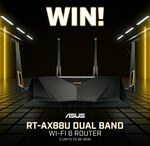 Win 1 of 2 ASUS RT-AX88U Dual Band Wi-Fi 6 Routers Worth $499 from PC Case Gear