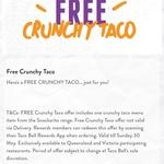 [QLD, VIC] Free Crunchy Taco via App @ Taco Bell