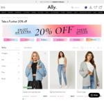 Further 20% off @ Ally Fashion + 10% off First Order + Upsized Cashback 10% + Spend $95 Bonus $5 Cashback via ShopBack