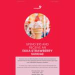 [QLD] Free Ekka Strawberry Sundae with $10+ Purchase @ Wintergarden Brisbane