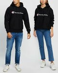 Champion - Black Reverse Weave Script Pullover Hoodie $49.15  + $7.95 Delivery ($0 with $50 Order) @ THE ICONIC