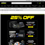 25% off Car Audio, Car Care, Tools, Seat Covers, Pressure Cleaners & More + Delivery ($0 C&C) @ Autobarn