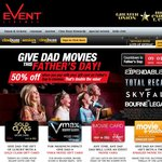 Event Cinemas Fathers Day Special 50% off if Paying by Gift Card