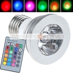 Multi-Color E27 LED Light Bulb with Remote $7.57 + FS