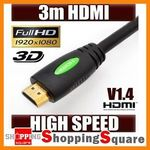 HDMI Cables - 3M $5.15, 10M $17.85 Shipped