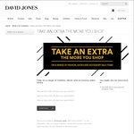 Extra 40% off the Sale Price of Items at David Jones, Bondi Junction NSW if You Spend $300