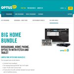 "Optus Bundle $90 Unlimted Internet + Fetch TV + Phone Calls + Free Samsung GALAXY Tab S 8.4"" Tablet"