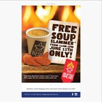 Free Soup from Sumo Salad (MacArthur Central Brisbane) 15th June 11am-2pm