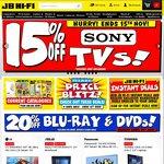 20% off CDs at JB Hi-Fi