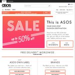 ASOS up to 50% off Sale + $5 Delivery/Free on $40+ Spend