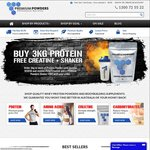FREE 250g Creatine + Shaker Bottle When You Order 3kg or More of Any Protein Powders @ Premium Powders Australia