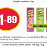 USA Made Pringles (150g) $1.89 @ NQR (VIC)