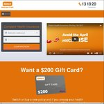 iSelect - $200 EFTPOS Giftcard When Pre-Paying 12 Months of Cover