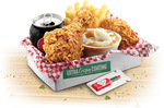 KFC $5 Tabasco Lunch Box (Tabasco Piece + Tabasco Sauce, Wicked Wing, Chips, Drink, Potato/Gravy)
