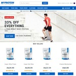 Myprotein 33% off Sitewide  + Free 1kg Whey Protein with $160 spend.  5kg WPC $74.61 Shipped