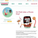 Free Glazed Doughnut, or Free Original Glazed Dozen (Dress As a Pirate), 19/9 @ Krispy Kreme