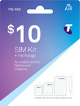 10GB (1GB + 9GB Bonus) Prepaid Mobile SIM Kit for $10 @ Telstra Prepaid