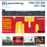 $20 off on All Orders over $150 @ Appliance Warehouse