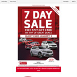 Free $777 Gift Card on Top of Other Deals at Lakeside Kia Caroline Springs VIC (New Cars)