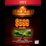 "MSY Boxing Day Sale - Acer Curve VA-LED 35"" XZ350CU 2560x1080 4ms 144HZ  FreeSync - $599. Instore Only 26/12/2017"