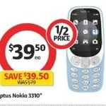 ½ Price Nokia 3310 3G (Optus Locked) $39.50 @ Coles