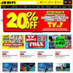 "20% off TVs at JB Hi-Fi: Hisense N7 55"" $958 + More"