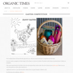 Win 1 of 3 Easter Chocolate Goodie Packs from Organic Times [Colouring-in Competition for Children 12 Years Old and under]