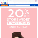 20% off Storewide* @ Toys R Us & Babies R Us - Online and Instore