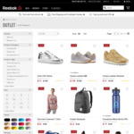 Extra 20% off Outlet + Free Shipping @ Reebok