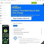 eBay Super Sundays Max $1 Final Value Fees @ eBay