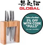 Global Teikoku 5 Piece Knife Block Set Japanese Knives $191.31 Delivered @ eBay Value Village