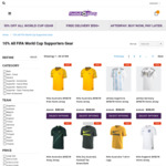 Socceroos Jersey $98 + $10 Delivery @ Football Galaxy, 10% off all World Cup Gear