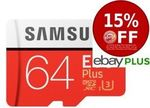 Samsung 64GB Evo Plus Micro SD SDXC Class 10 100MB/s UHS-I Memory Card $15 Delivered @ Shopping Express (eBay Plus Members)
