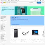 20% off 22 Selected Sellers (Sony, Dell, Videopro, Futu & More) @ eBay