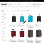 Monsac Luggage 70% off @ Myer - Online or Click or Collect