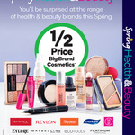 1/2 Price Maybelline, Revlon, Rimmel, EcoTools, Sally Hansen, Manicare Cosmetics, Neutrogena, St Ives Skincare @ Woolworths