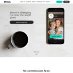 Shout out for Good 0% Commission and Free to Use Shout - Free Charity App