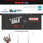 Black Friday Sale - Extra 25% off All Fishing Gear - Store Wide and Free Shipping @ Adore Tackle