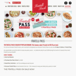 [NSW] Fratelli Pass - One Pizza/Pasta/Salad Per Day in January 2019 for $200 @ Fratelli Fresh (Dine-in Only)