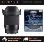 Sigma 16mm F1.4 DN Contemporary Lens for Sony E-Mount with 67mm HOYA UV Filter $428 Delivered @ DCXpert eBay