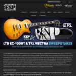 Win a 2019 LTD Deluxe EC-1000T Prototype Guitar & TKL Vectra Hardshell Modded Case Worth Over $2,500 from ESP Guitars