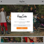 20% off Sitewide (Excludes Sale / Outlet Limited Edition) + Free Shipping @ Happy Socks