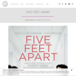 [VIC/NSW/QLD/SA/WA] Free Movie Tickets to Five Feet Apart @ ShowFilmFirst (Membership Required)