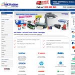 18% off for All Non-Genuine Compatible Printer Cartridges, $6.50 Shipping or Free for $50+ Order @ Ink Station