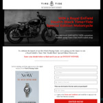 Win a Royal Enfield Classic 500 Motorcycle Worth $9,990 +/- 1 of 50 Nato Watch Straps Worth $25 from Time+Tide Watches