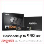 [eBay Plus] Samsung 970 EVO Plus 1TB $281.25 ($246.25 after $35 Cashback Redemption) Delivered @ Budget PC eBay