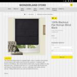 Blackout Flat Roman Blinds from $22 (60cm X 160cm) + Shipping @ Wonderland Store